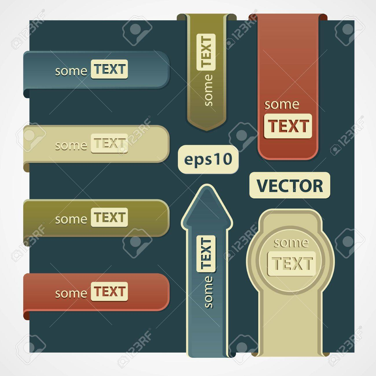 Set of paper tags Stock Vector - 12770881
