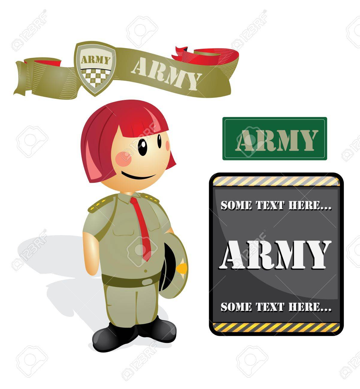 Cartoon Soldier Officer Woman Royalty Free Cliparts, Vectors, And ...
