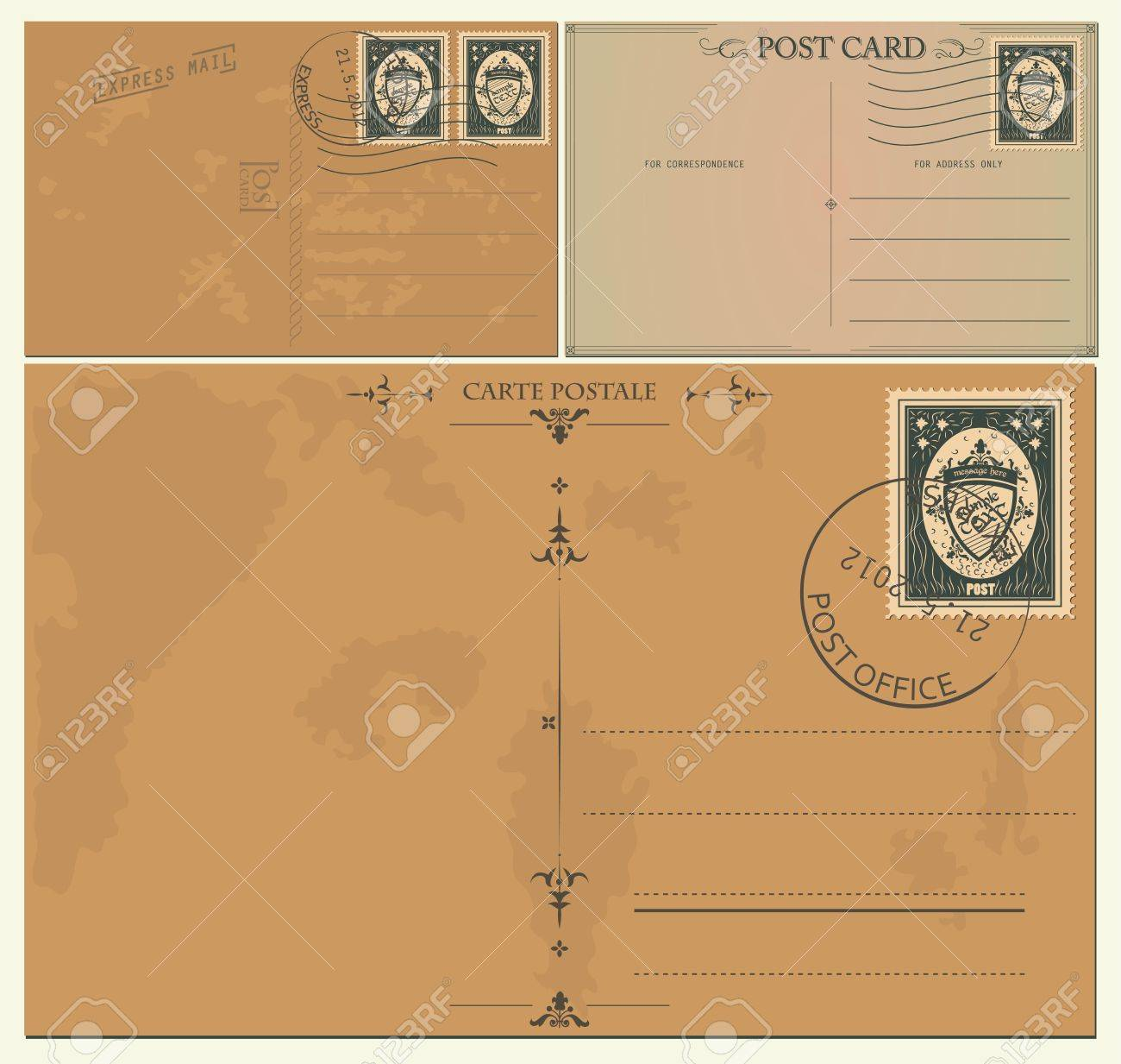 Vintage postcards Stock Vector - 13777907