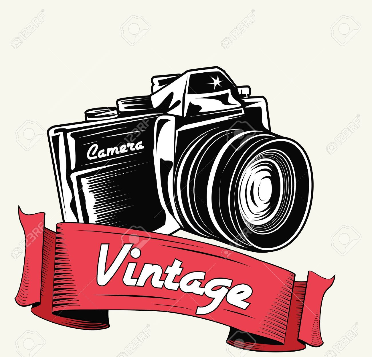 Retro camera with vignette Stock Vector - 16209951
