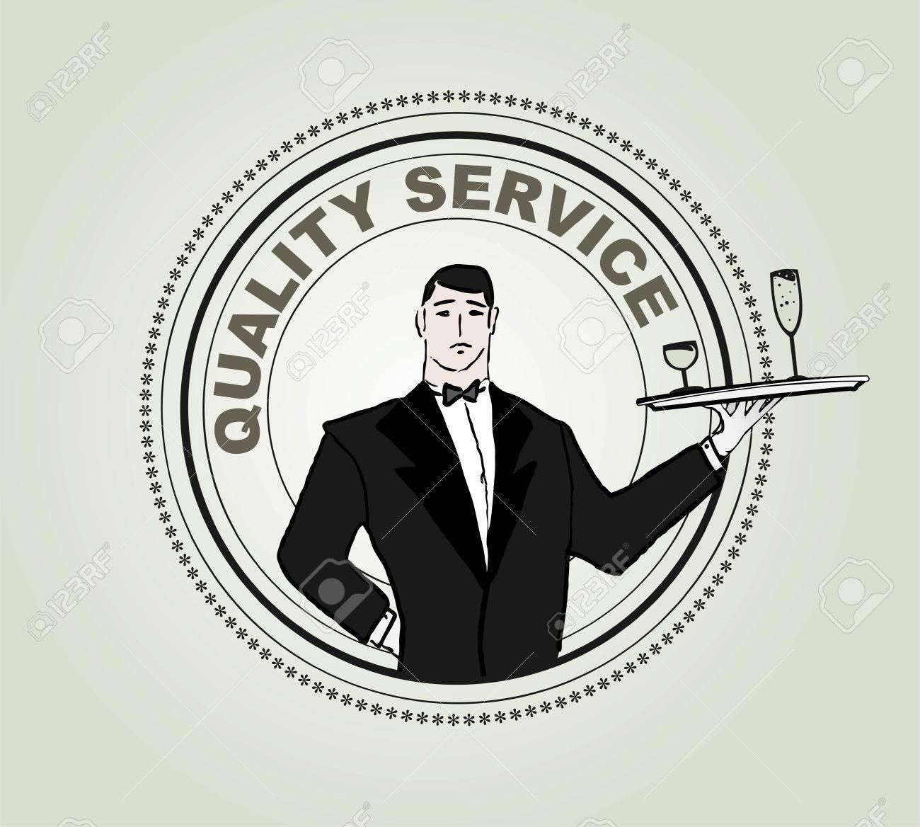 Restaurant service vector label Stock Vector - 16505914