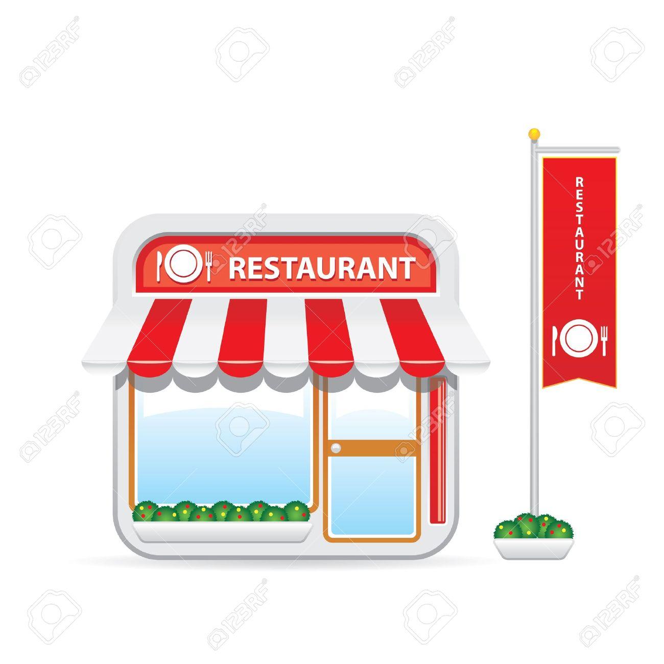 Building cartoon clipart restaurant building and restaurant building - Restaurant Icon Stock Vector 17543113 Restaurant Icon Restaurant Building Cartoon
