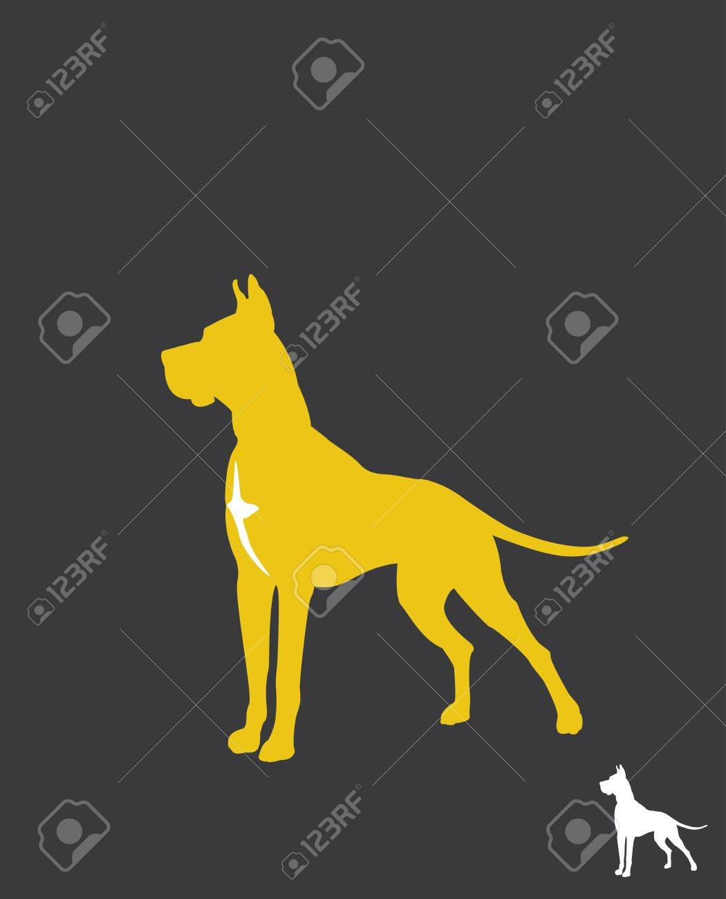 Great Dane- silhouette Stock Vector - 17959769