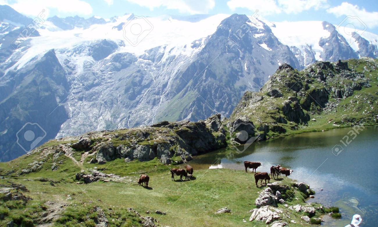 French Alps and Lake Stock Photo - 2138825