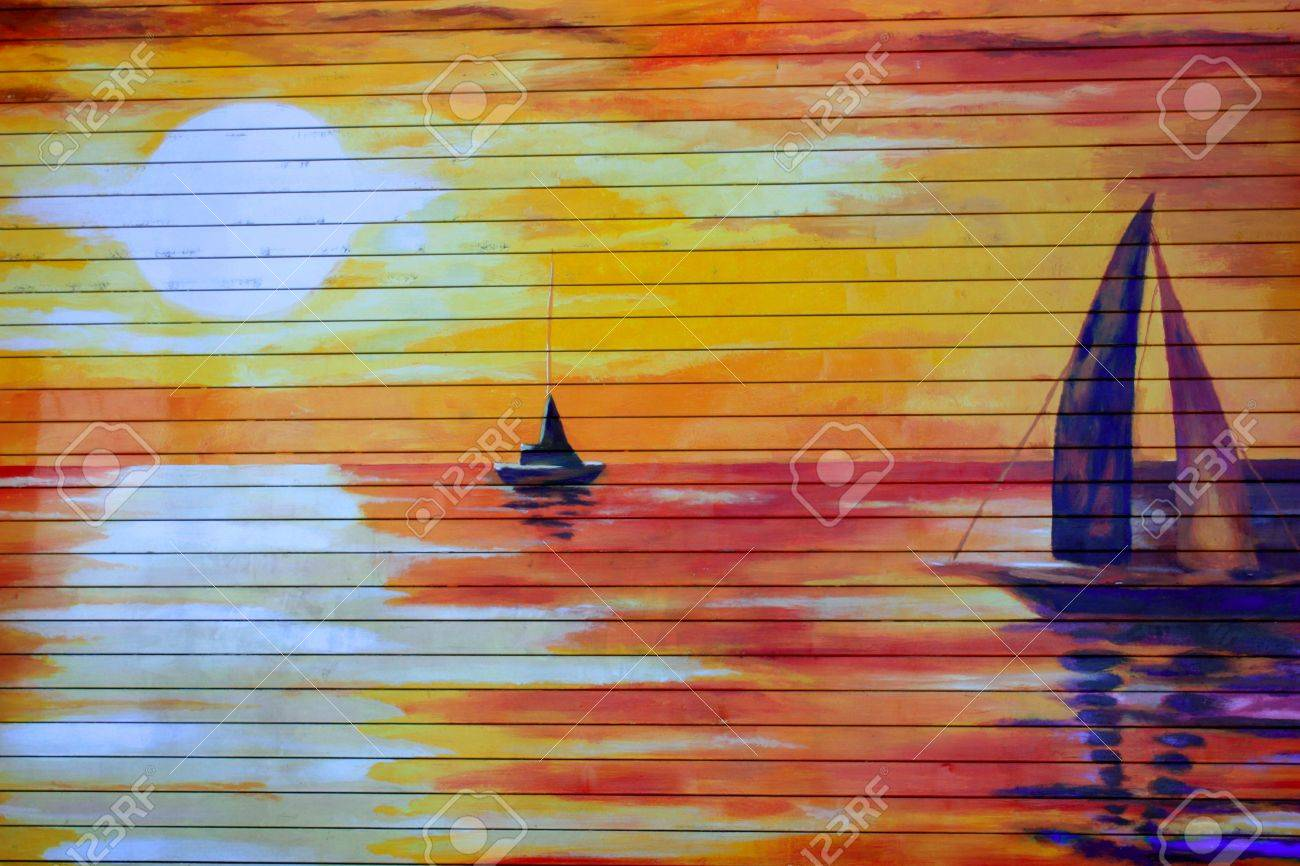 Street wall painting - Stock Photo Street Wall Painting