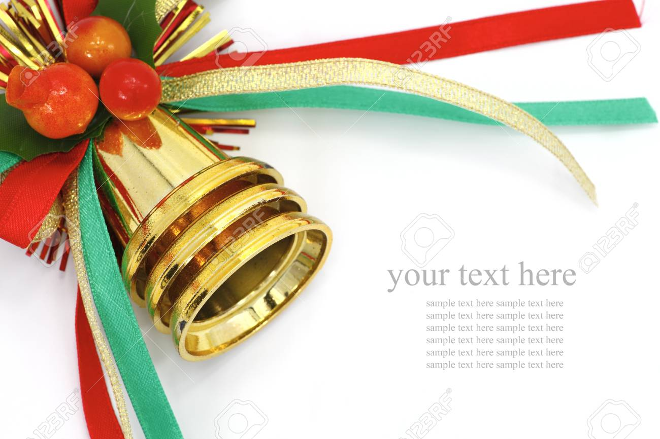 Christmas Bells with color ribbon Stock Photo - 11395168
