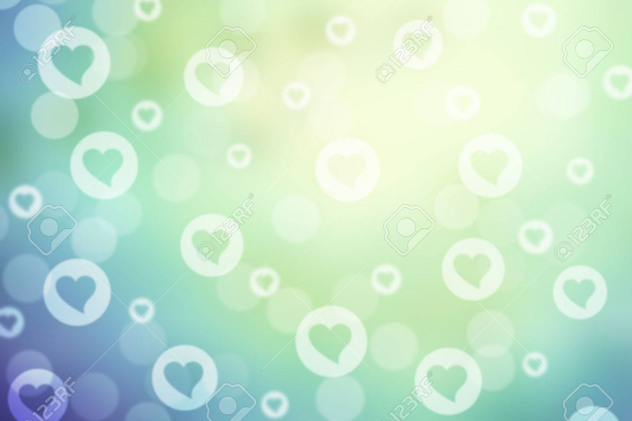 Green And Blue Valentine Sparkle Bokeh Background Or Bokeh Wallpaper