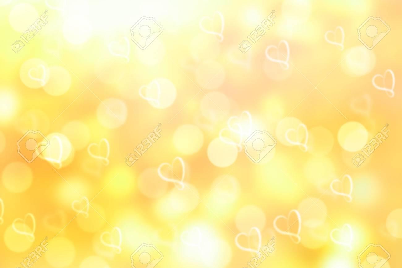 黄色バレンタイン輝きボケ背景やボケ味の壁紙 の写真素材 画像素材