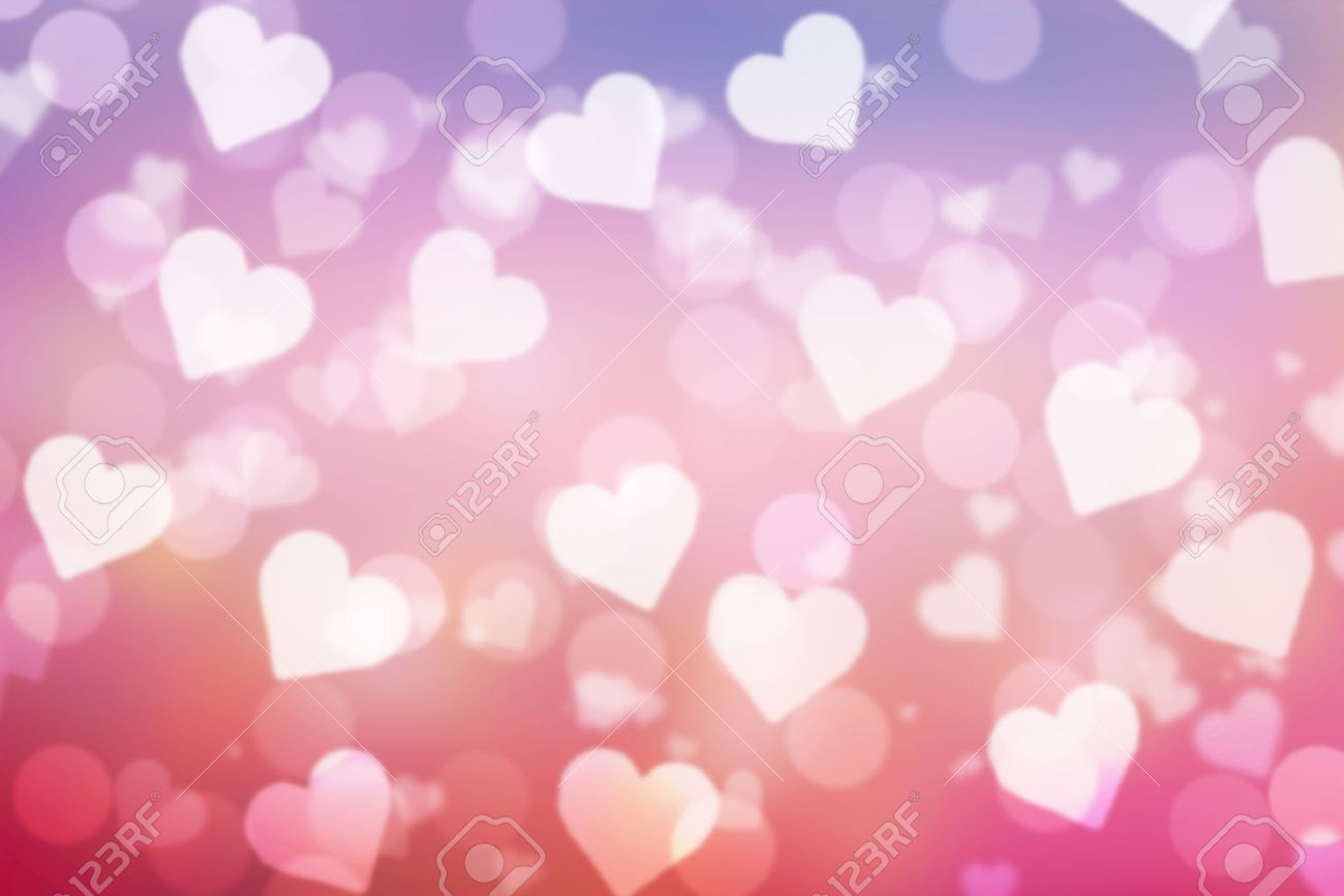 sweet valentine sparkle bokeh background or bokeh wallpaper stock