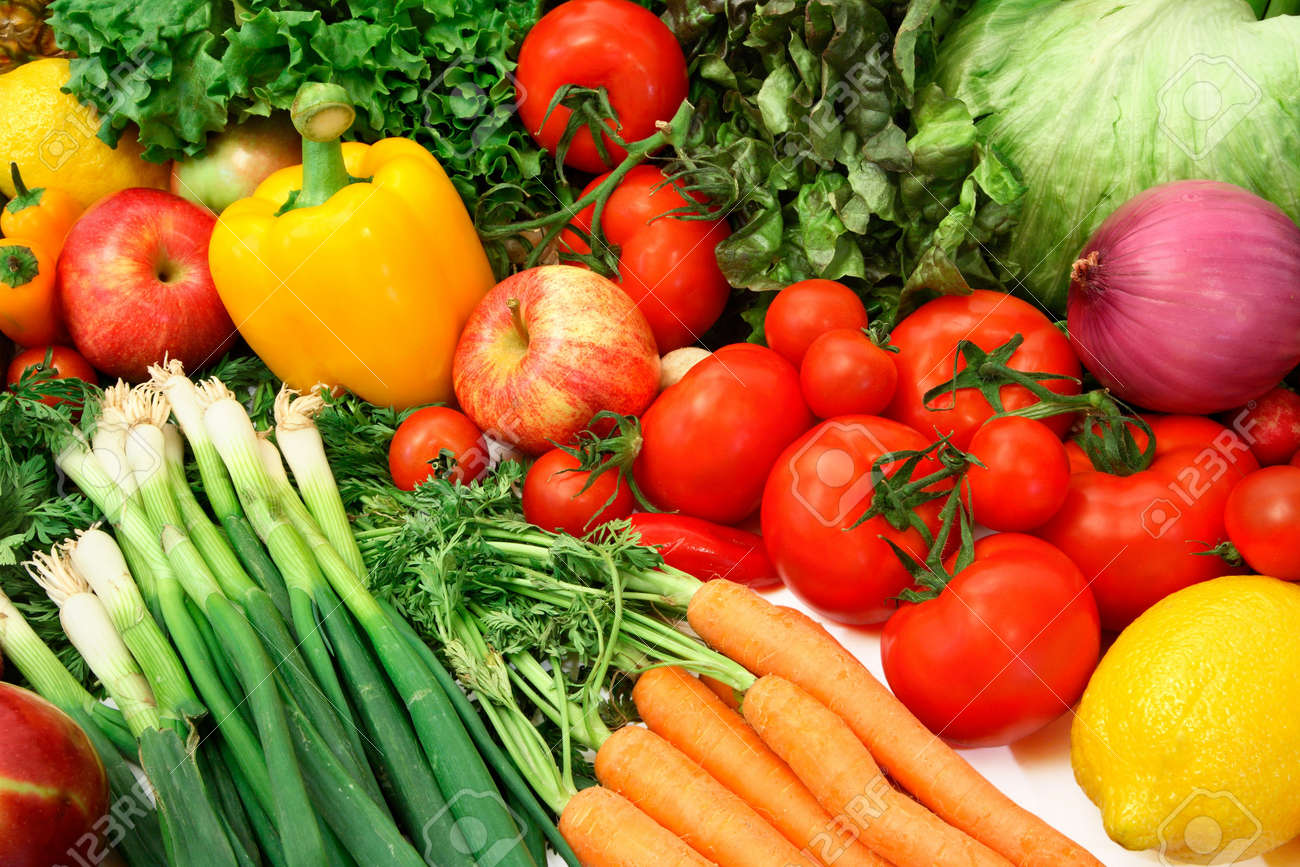 Colorful Vegetables and Fruits Stock Photo - 952994