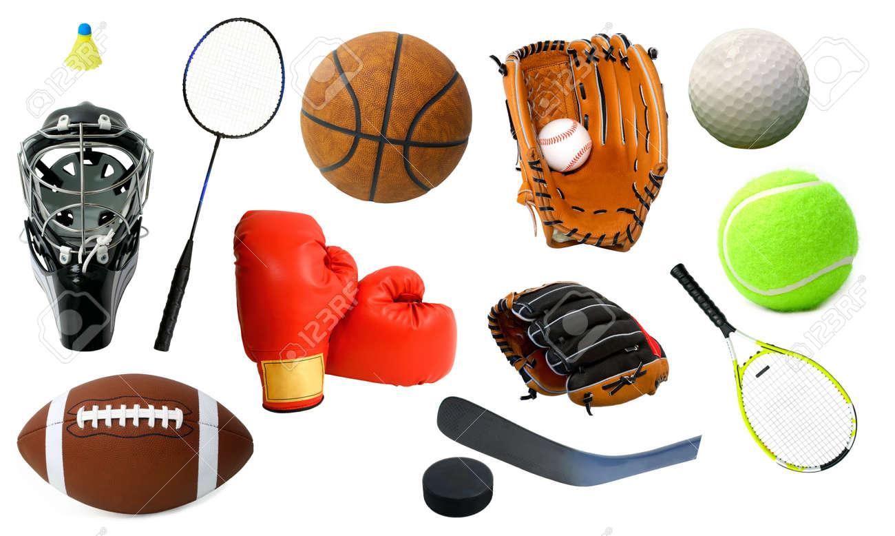 Disposición de varios artículos deportivos. Foto de archivo - 3114435 2b5ee7bc889a6