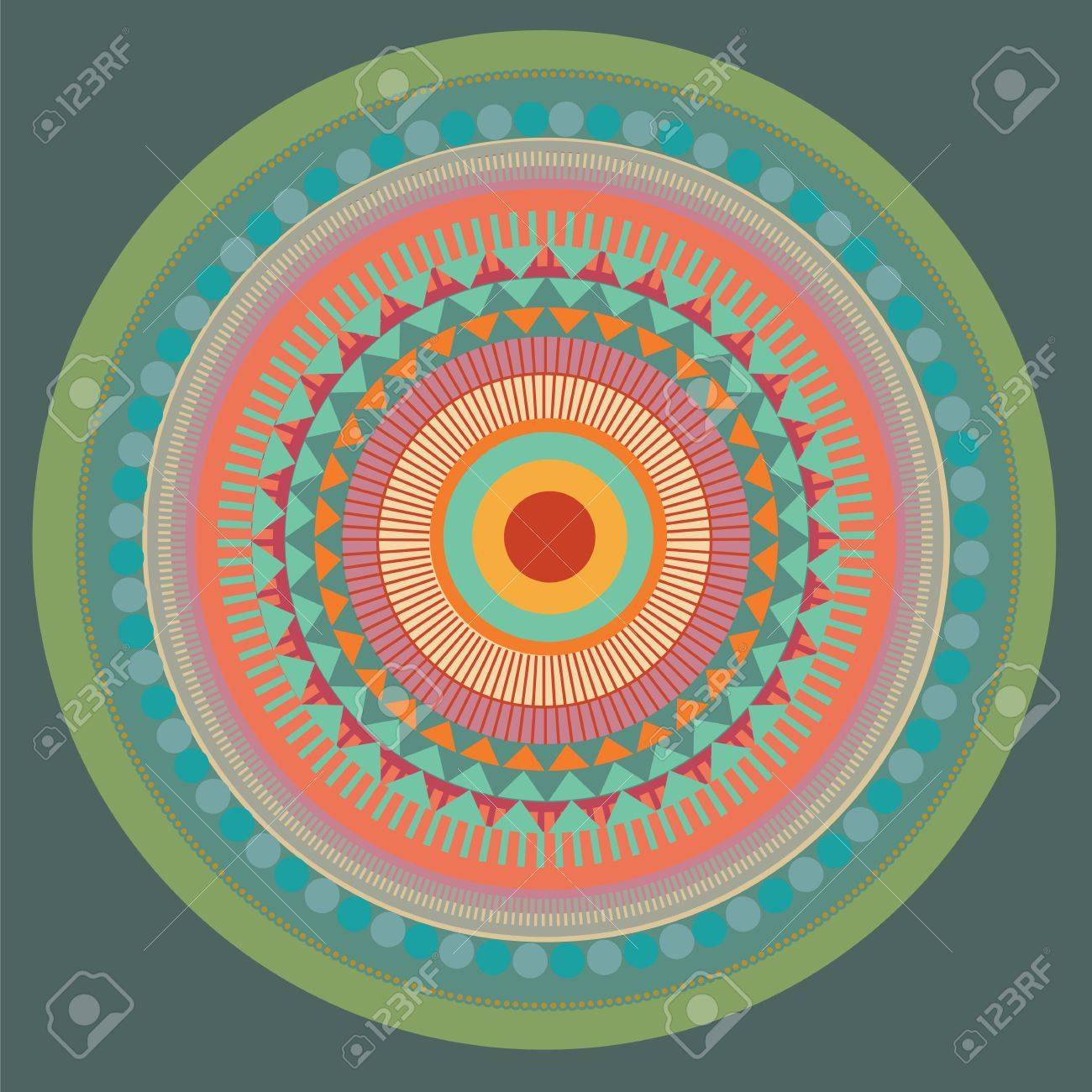 Set of color mandala. vector illustration Stock Vector - 18463828