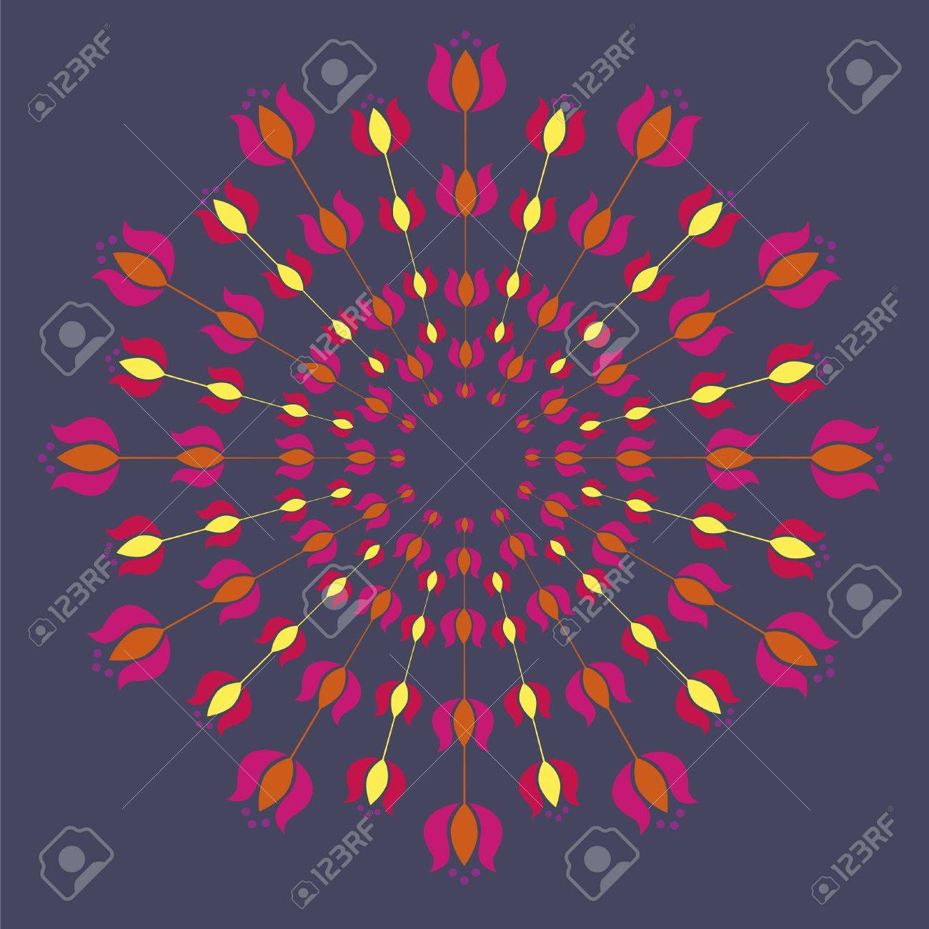 Floral detailed mandalas illustration Stock Vector - 18568610