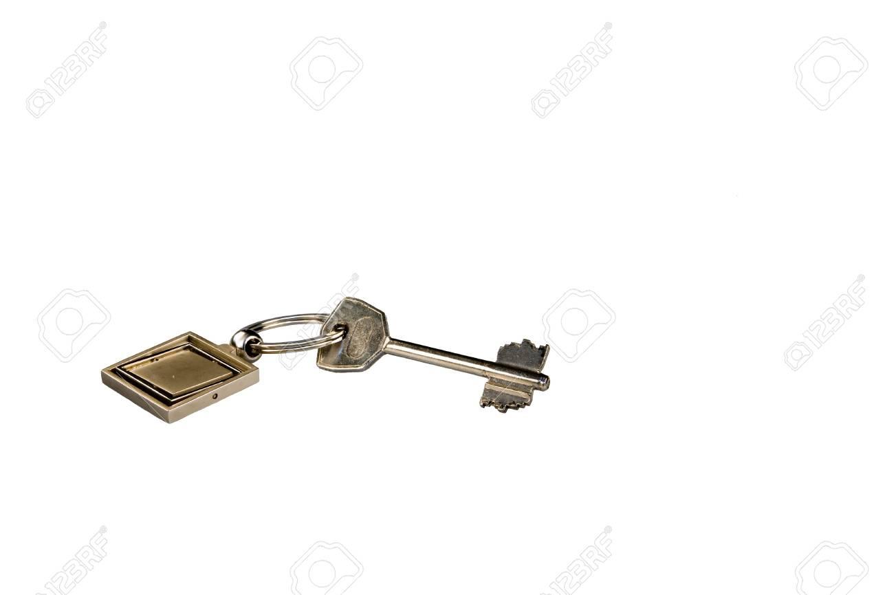 Key with key fob isolated on white Stock Photo - 3114337