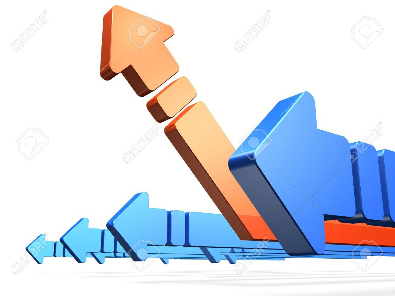 Arrow to rise is a sign that things get better. Stock Photo - 16544668