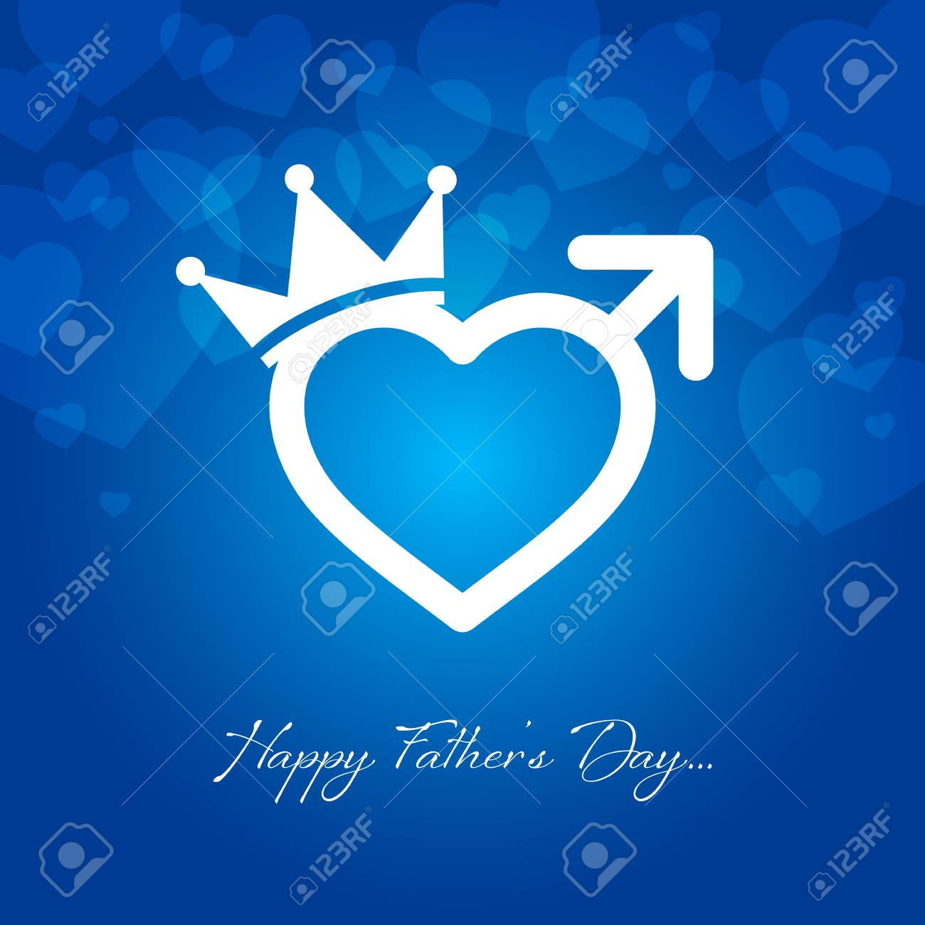 Happy Fathers Day Greeting Card Vector Illustration Royalty Free