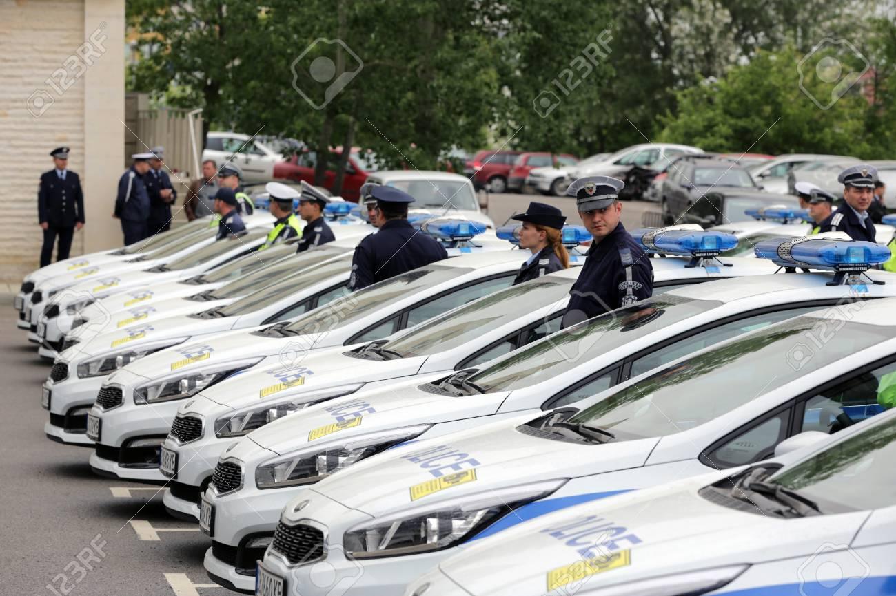 New Vehicles 2017 >> Sofia Bulgaria 12 May 2017 Police Officers Stand Beside Their