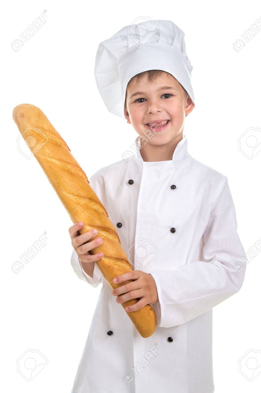 Con Chef De Vestido Niño Gracioso Fresca Baguette Uniforme nvm8OwN0