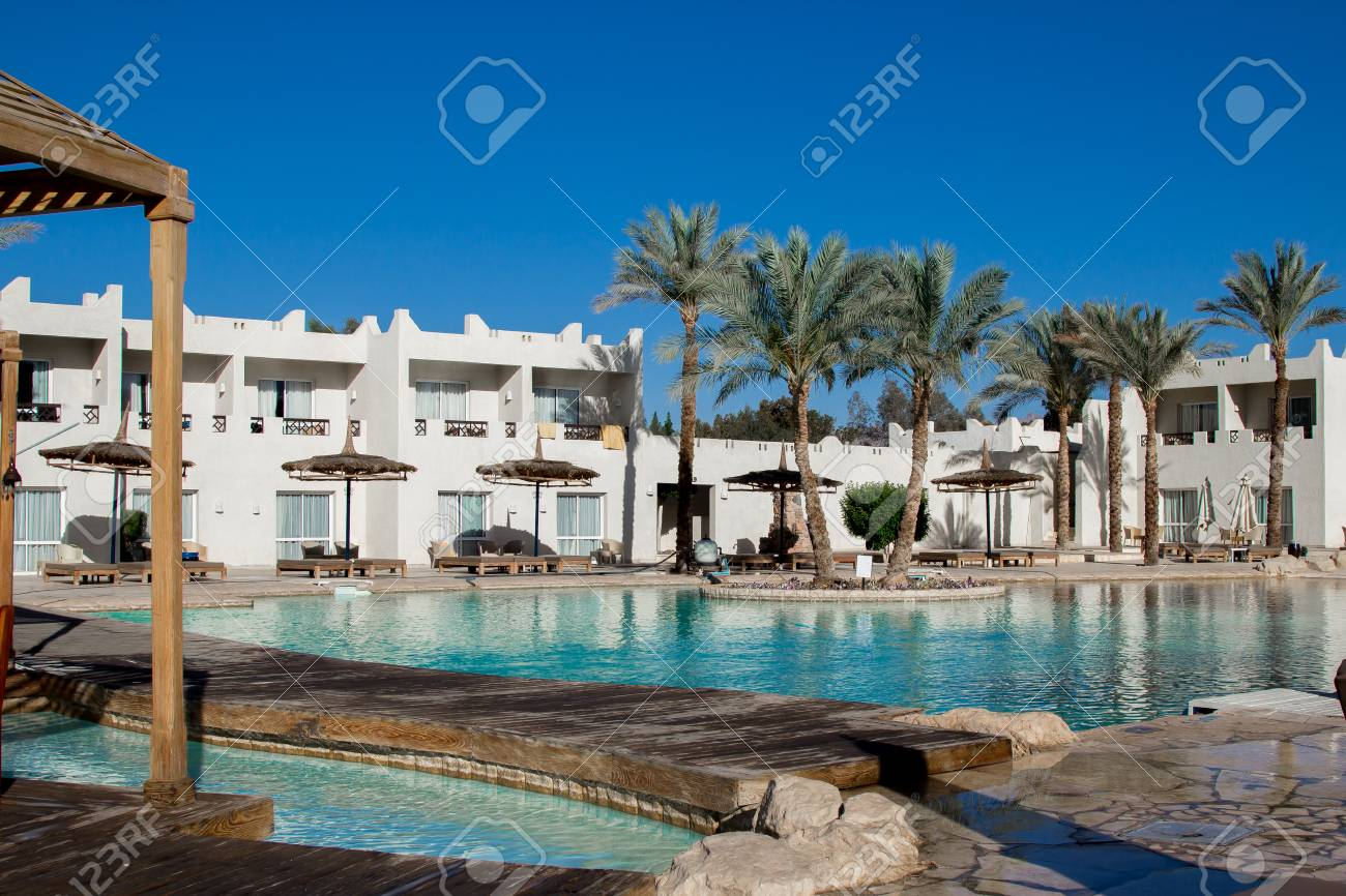 Hotel Facade In Reef Oasis Beach Resort 5 With A Beautiful Swimming ...