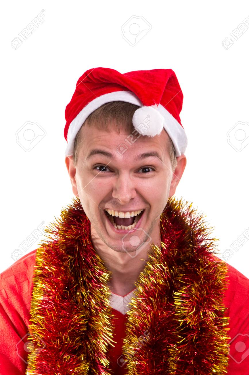 Thinking For Christmas Gift Ideas Funny Laughing Guy With A