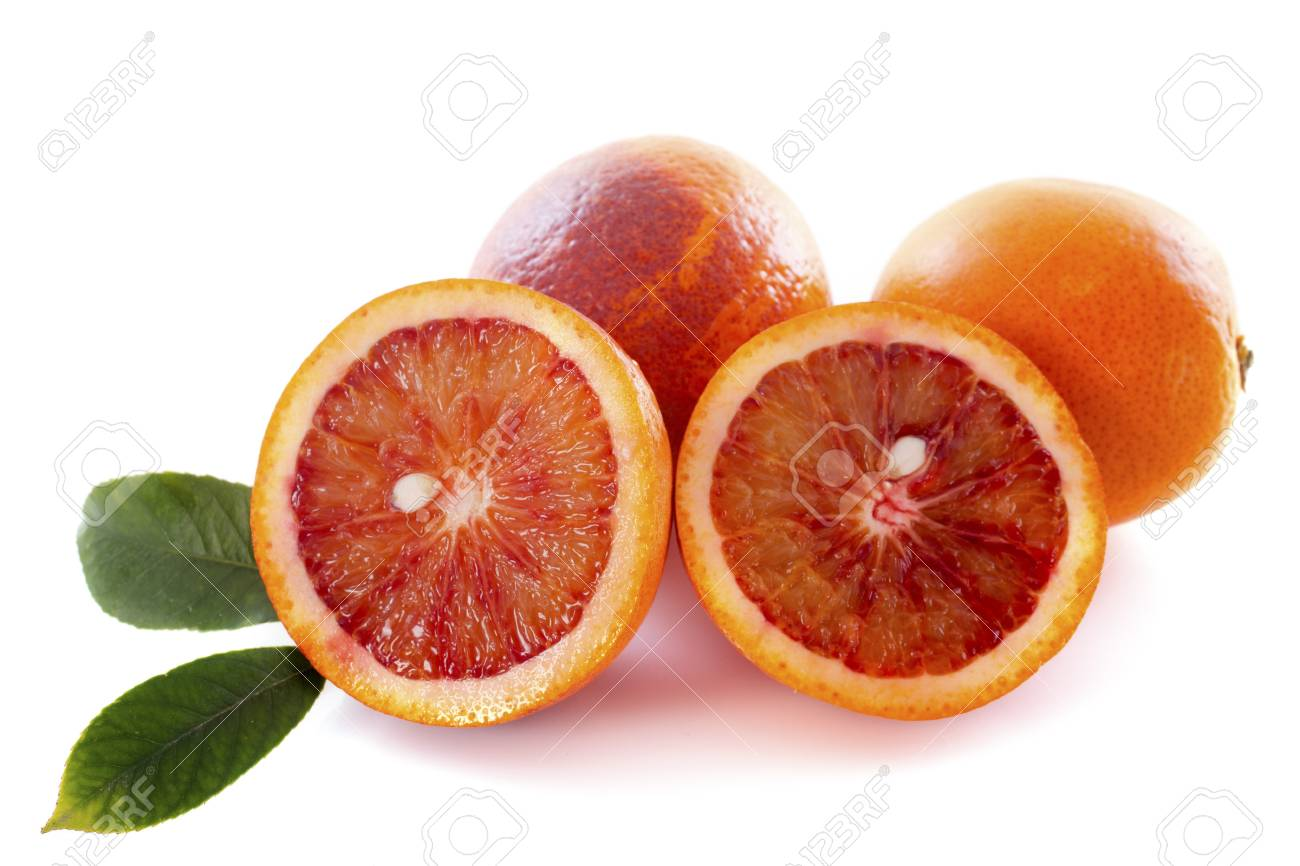 blood oranges in front of white background Stock Photo - 18119390