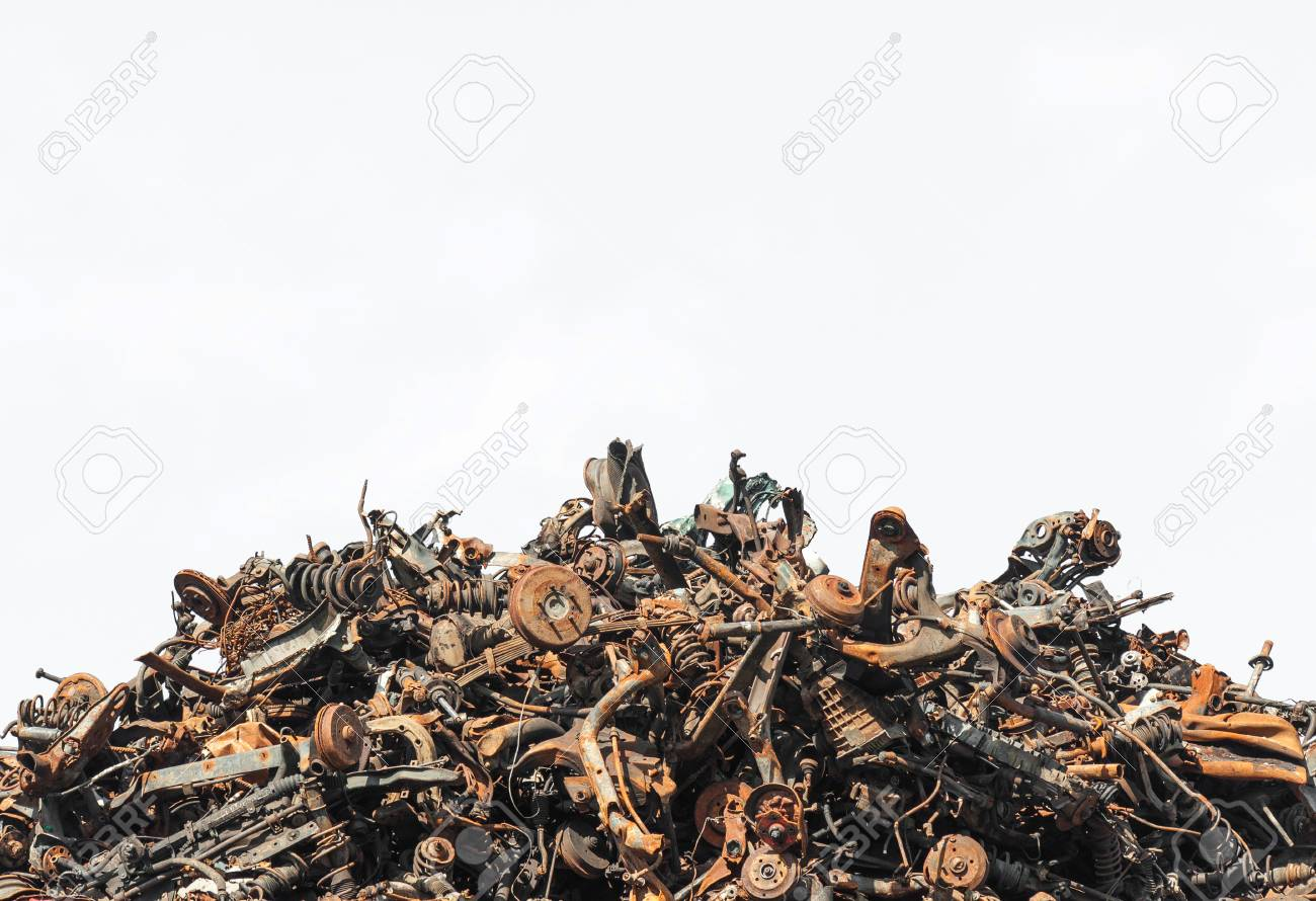 Scrap metal isolated on the white background - 74421022