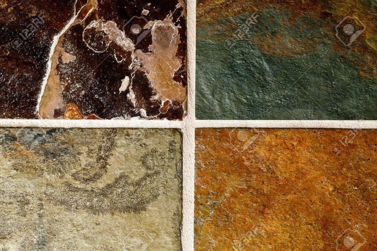 foto de archivo naturales de suelos de baldosas de piedra de pizarra resumen de