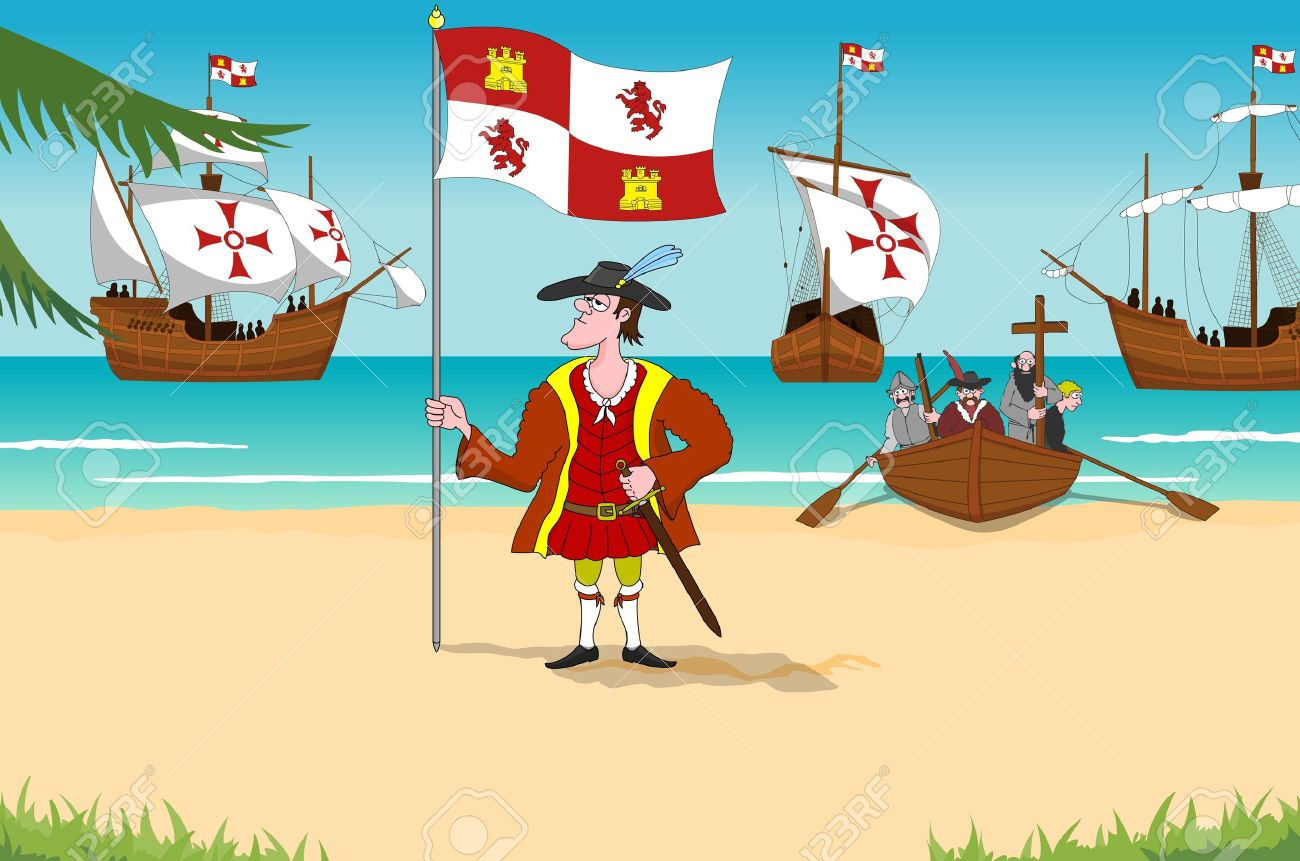 Discoverer Christopher Columbus, 1492 New World Stock Photo - 13420982
