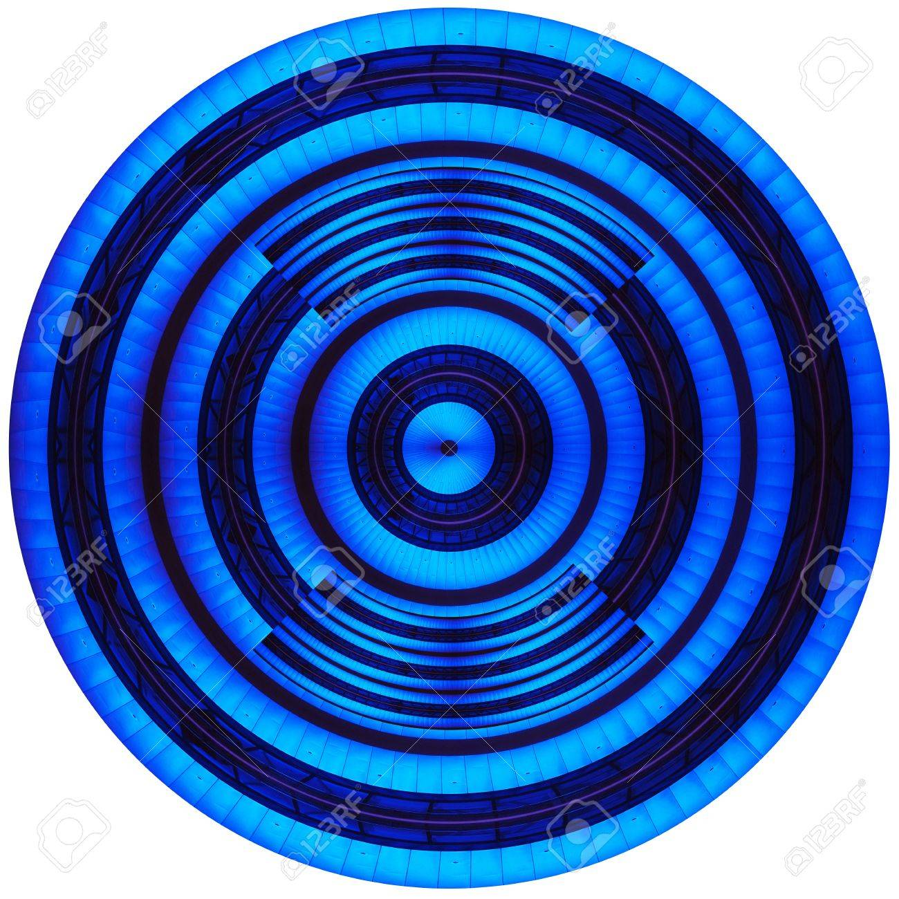 Round button and wheel in blue on the phone and on the Internet Stock Photo - 17630773