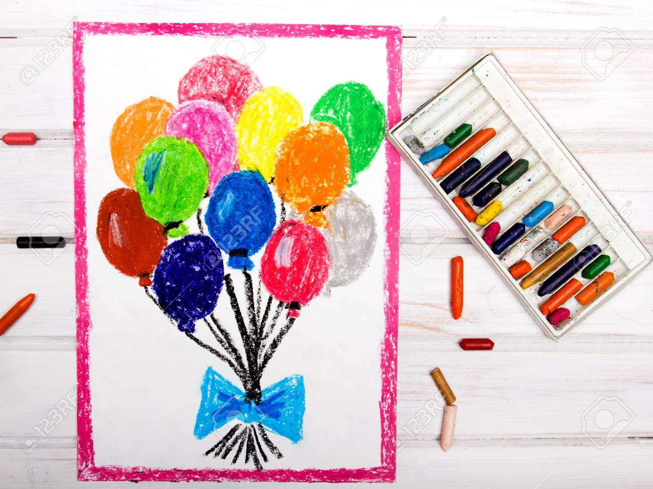 colorful drawings colorful balloons stock photo picture and