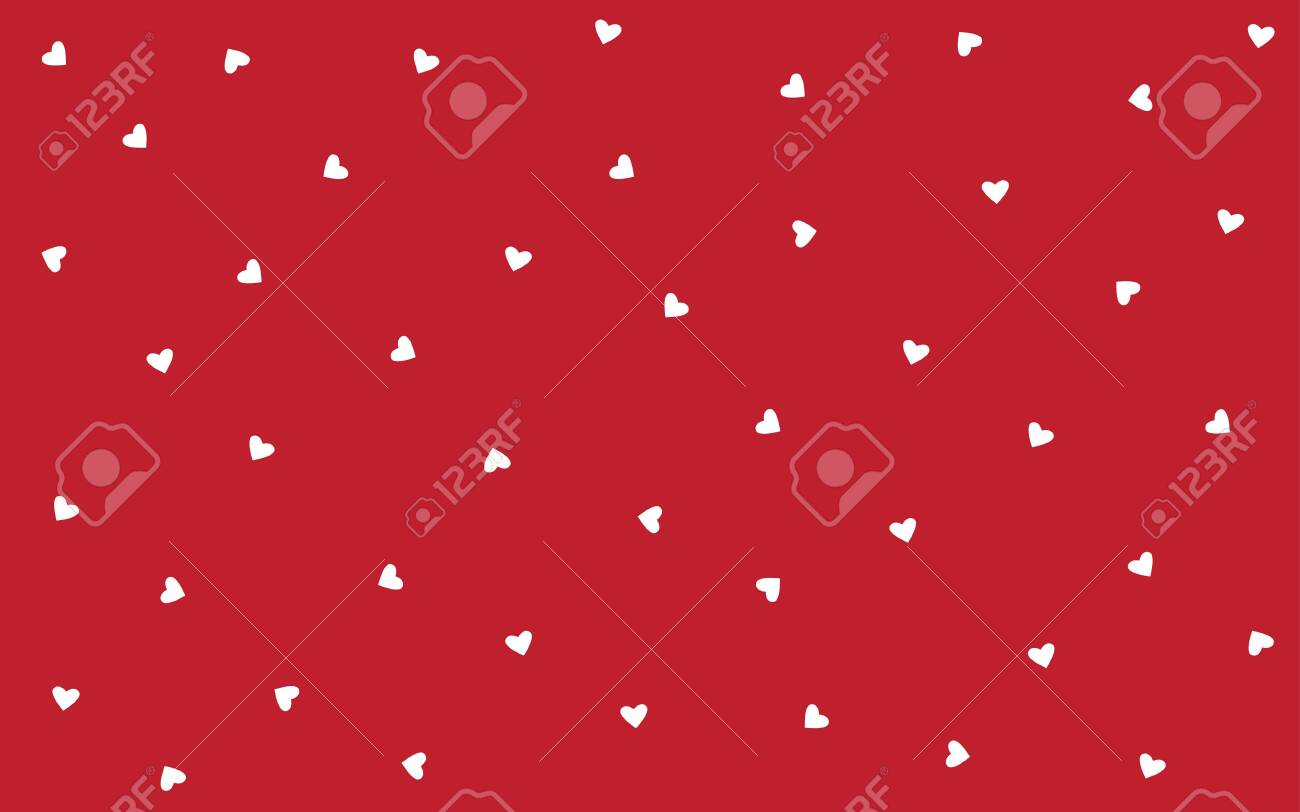 Vector Background Valentines Day Seamless Pattern With Small