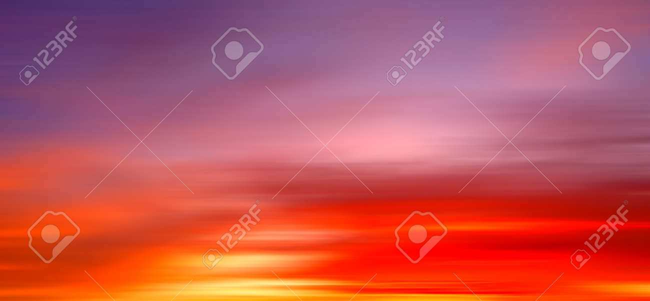 Gorgeous Panorama twilight sky and cloud at morning background motion blur image - 169667248