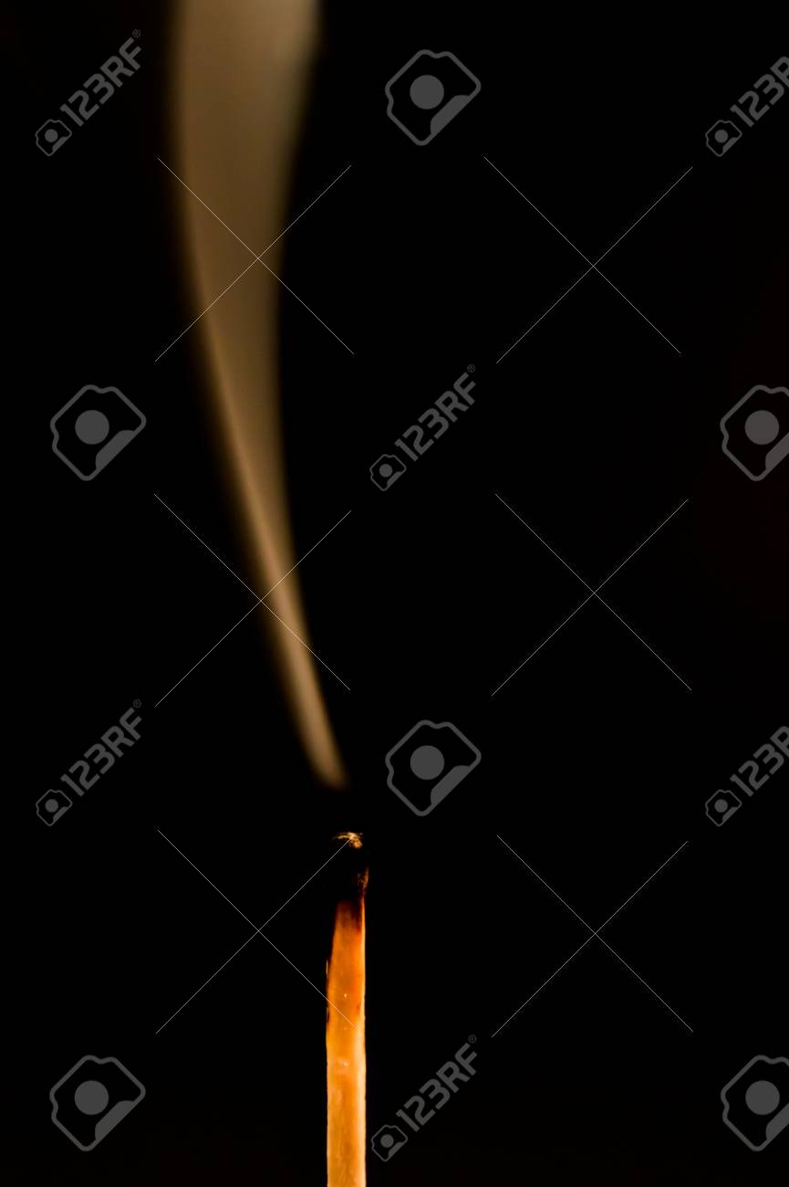 Silhouette of an extinguished match flame Stock Photo - 23409855