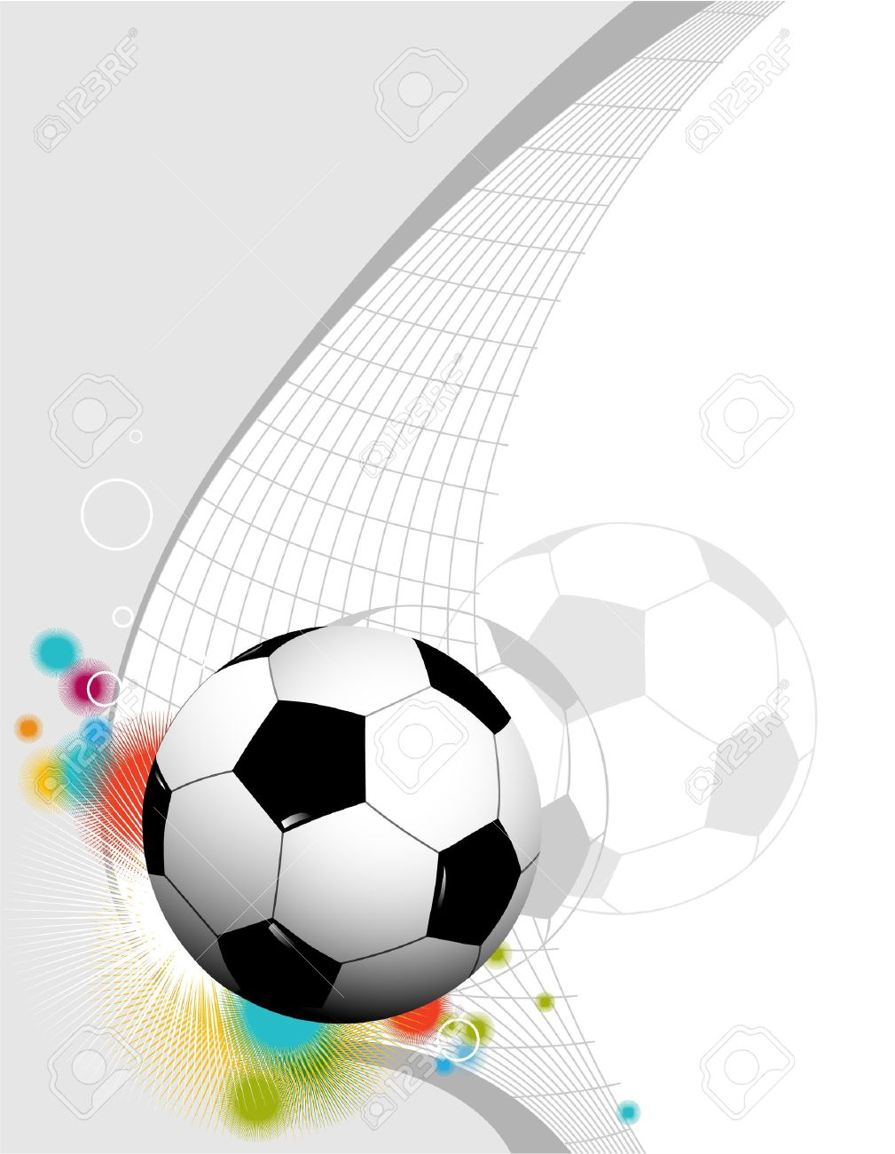 Abstract football background Stock Vector - 13931763
