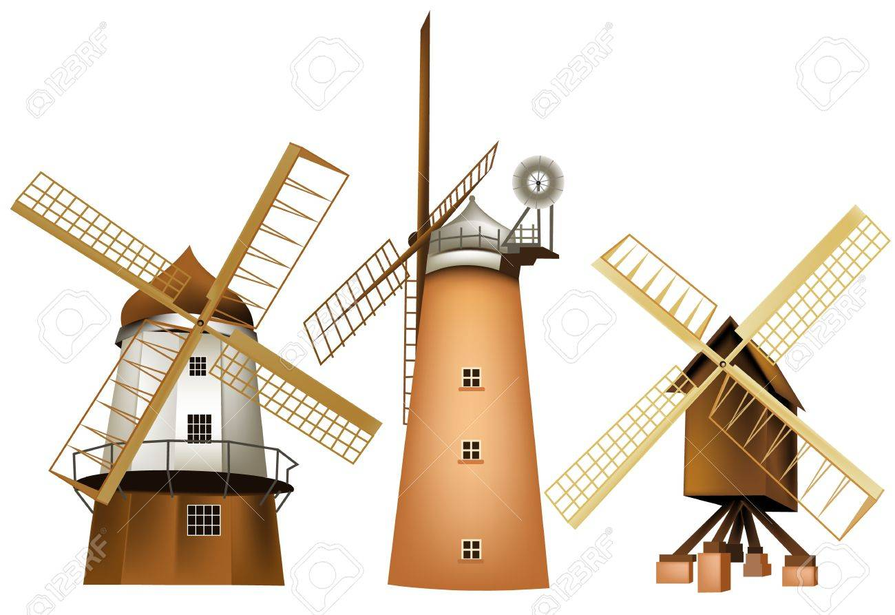 Windmill Stock Vector - 14020167