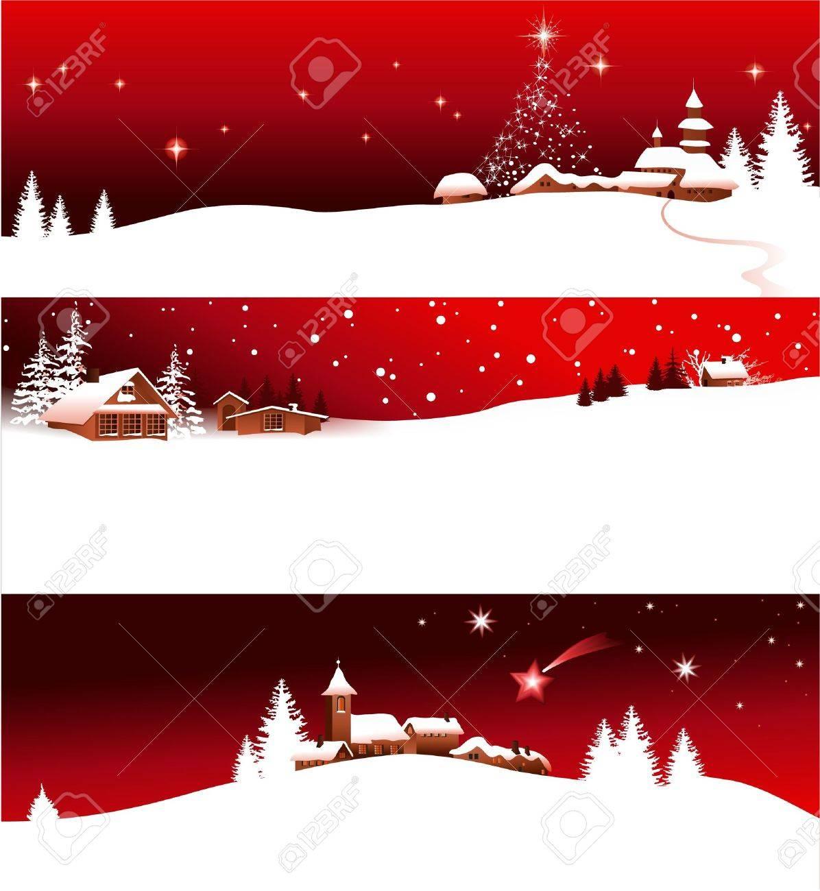 Christmas banners Stock Vector - 14020249
