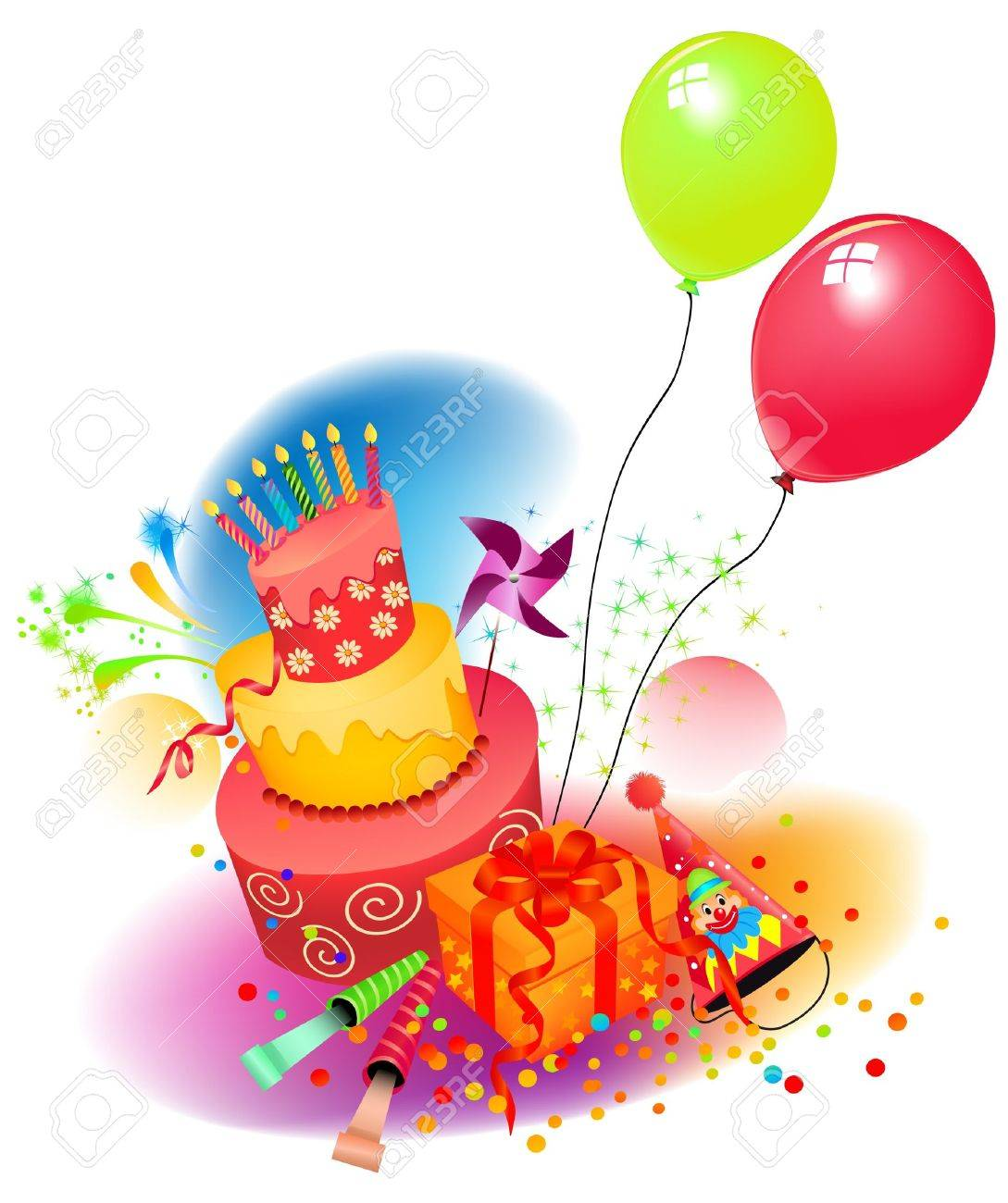 Birthday set Stock Vector - 14093979