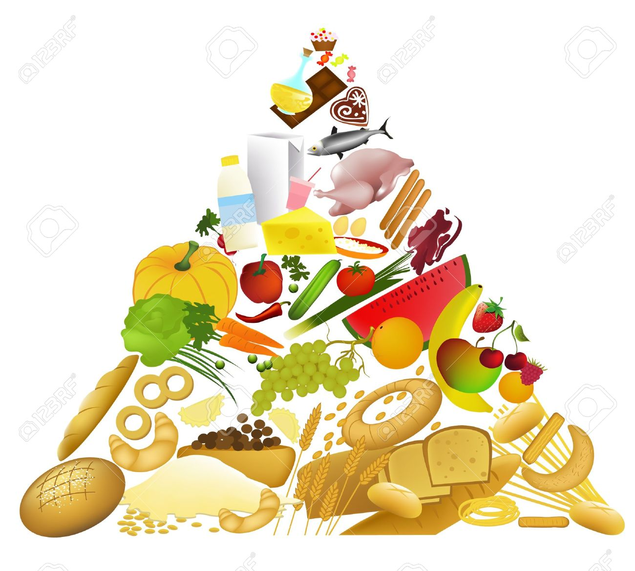 Food Pyramid Stock Vector - 14093983