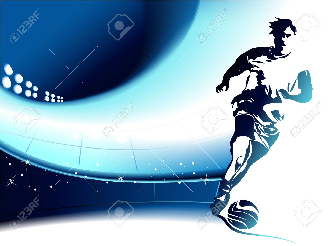 Football background with player - 14180338
