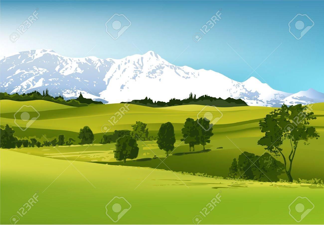 Mountain landscape Stock Vector - 14477247