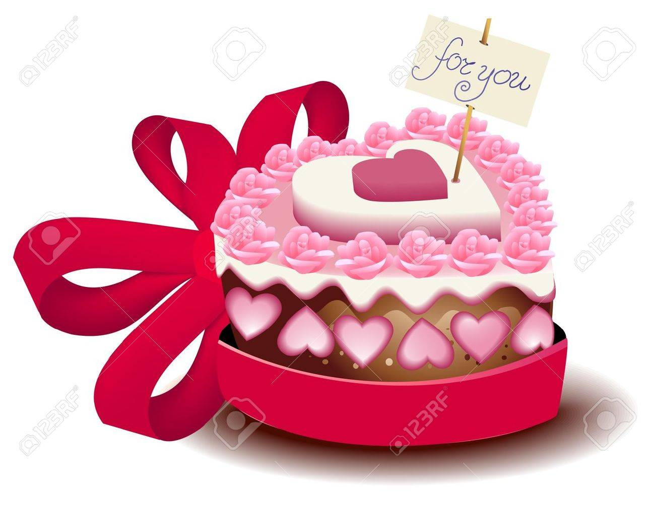 Wondrous Valentine Cake Royalty Free Cliparts Vectors And Stock Funny Birthday Cards Online Fluifree Goldxyz
