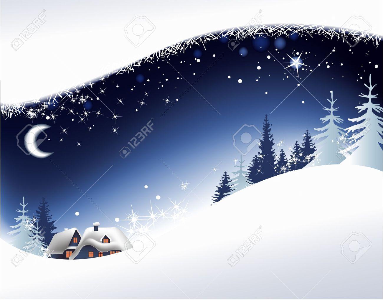 Paesaggi Di Natale.Paesaggio Di Natale Con Piccola Citta