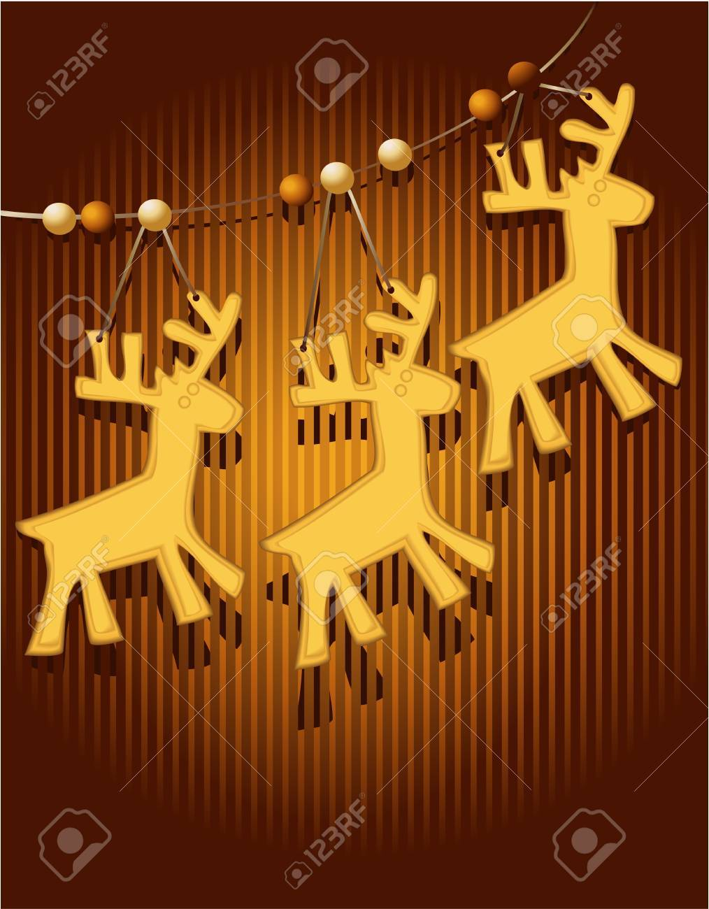 Christmas card with sweet cakes Stock Vector - 16111975