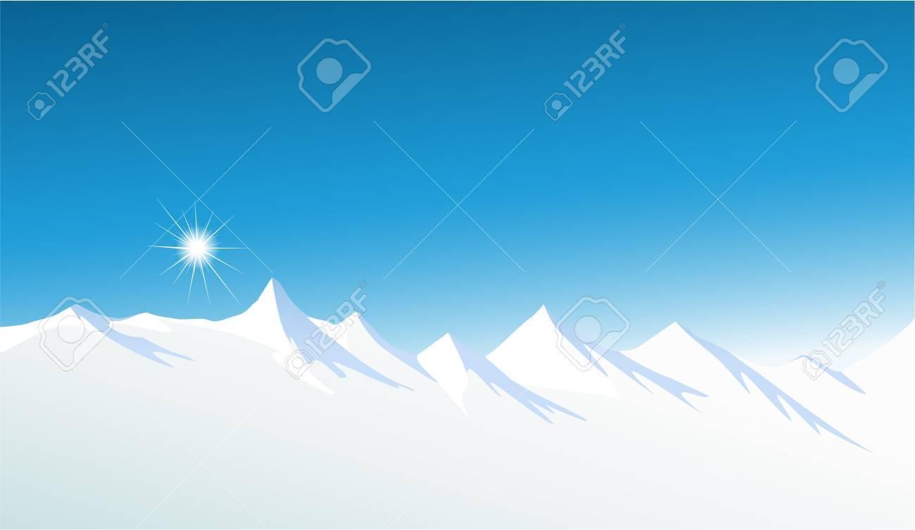 Winter mountains Stock Vector - 17188462