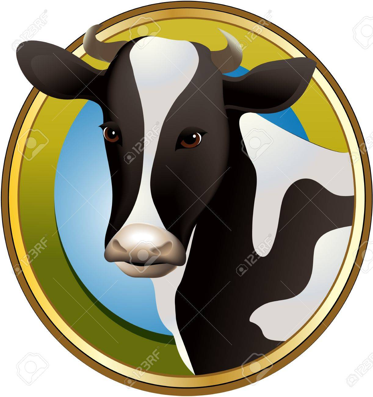 Farm cow Stock Vector - 17694924