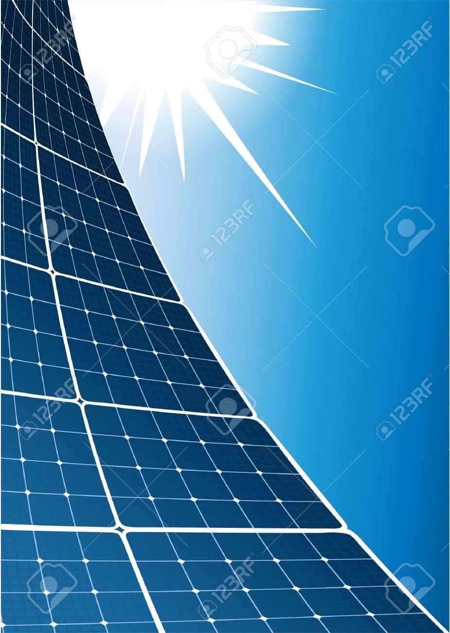Solar collector background Stock Vector - 21433734