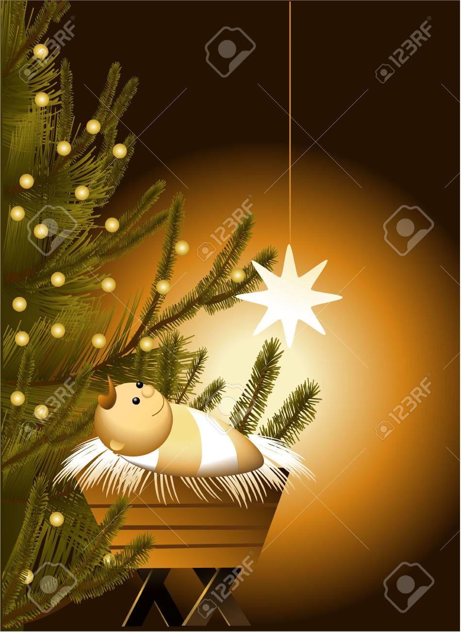 Immagini Gesu Bambino Natale.Scena Di Natale Con Gesu Bambino