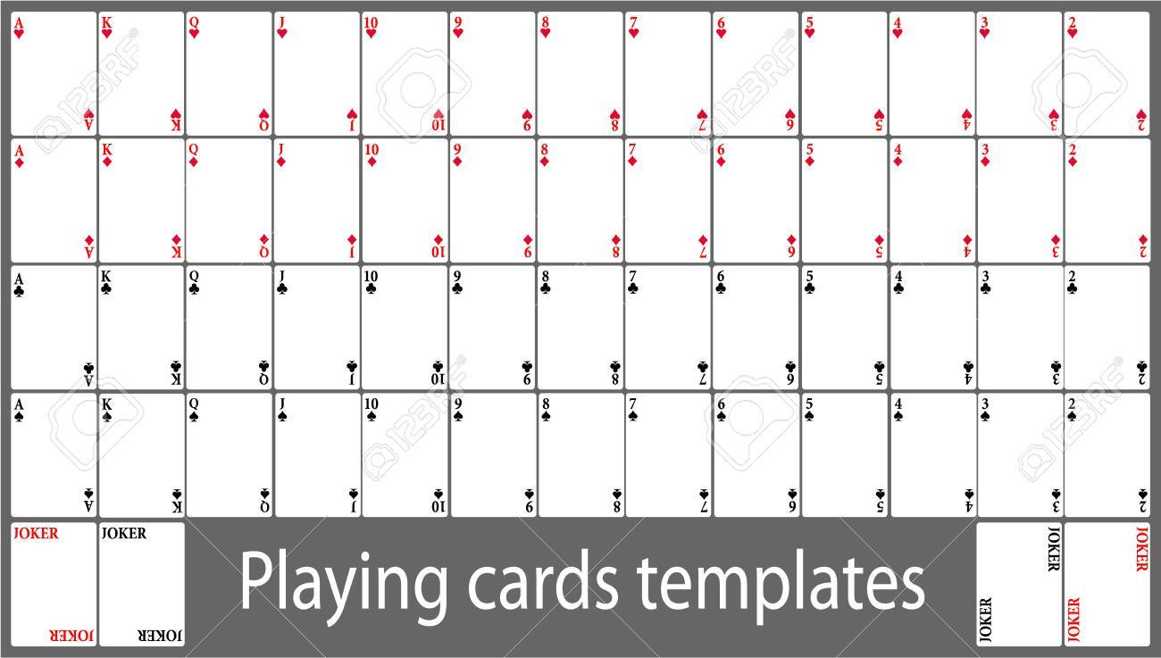 Playing Cards Template Set Royalty Free Cliparts Vectors And Stock Illustration Image 68423828
