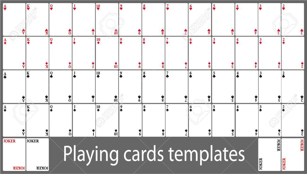 Spielkarten Template Set