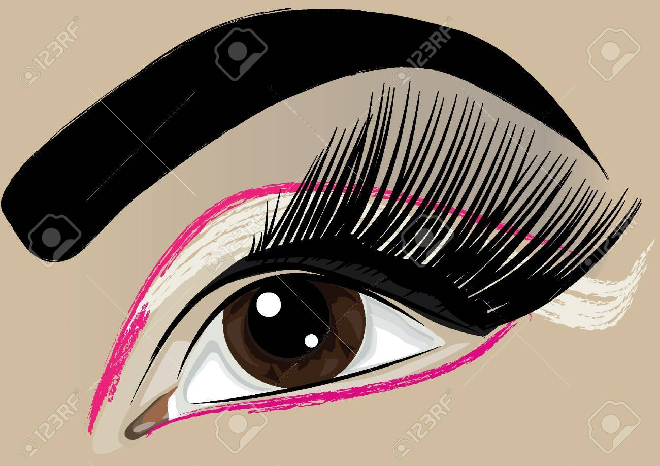 Women make-up brown eye Stock Vector - 9217899